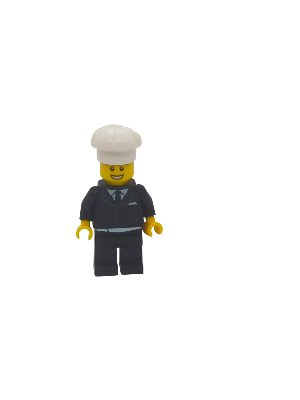 Businessman figure with big white cookie cap - Lego