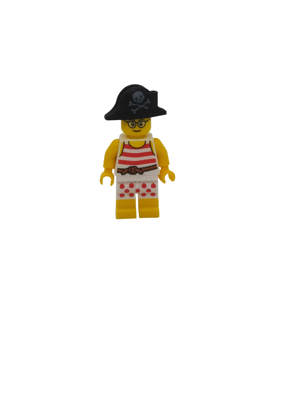 Pirate figure in underwear with a Lego hat