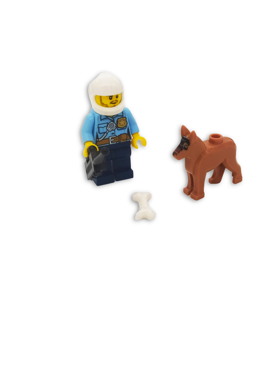 Lego Policeman with Dog and accessories