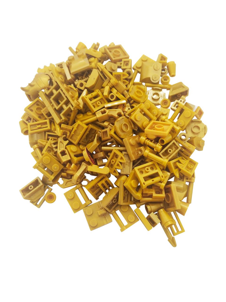 Special mix of Lego parts in gold color