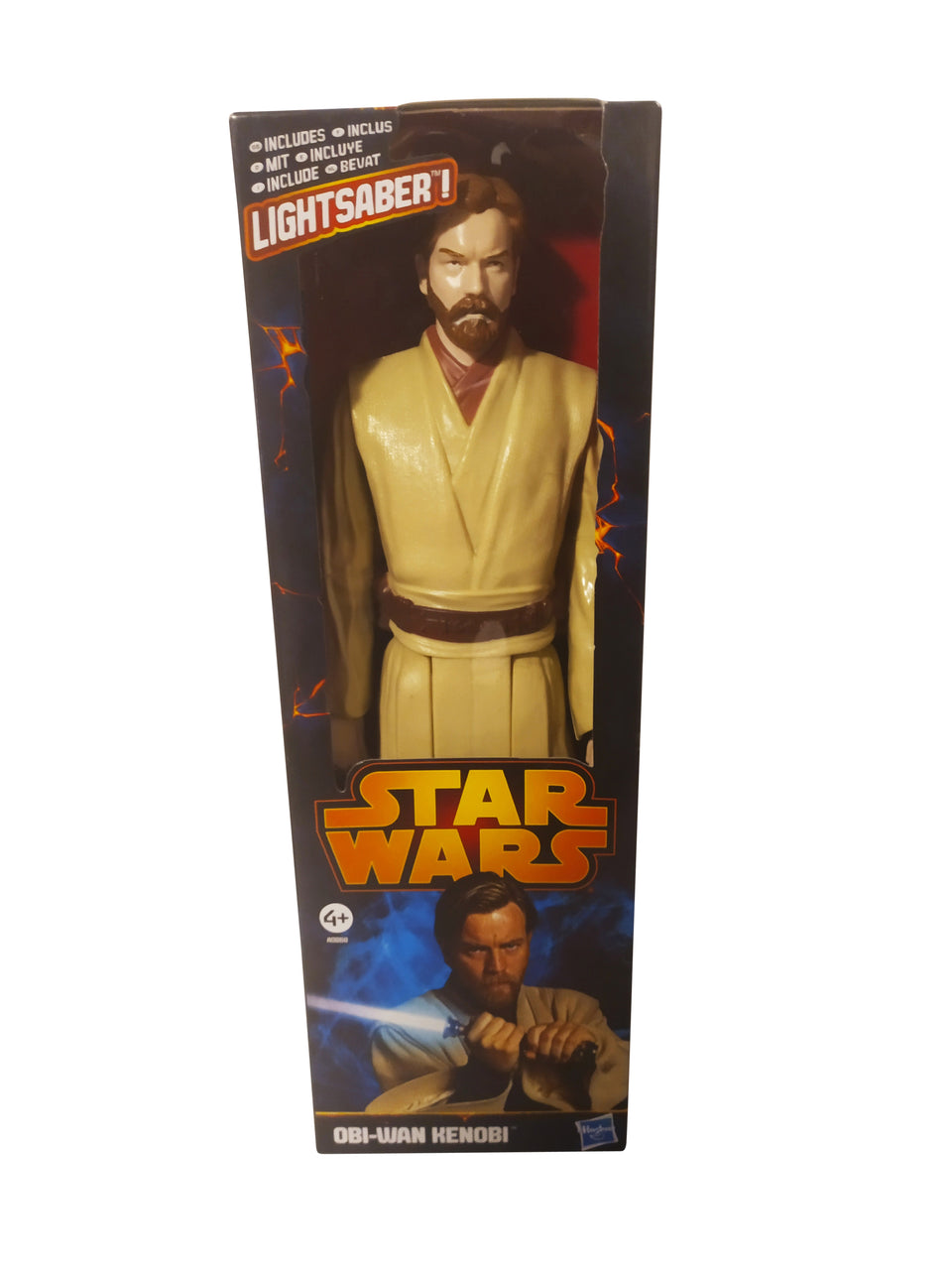 star wars figures stormtrooper and obi-wan kenobi