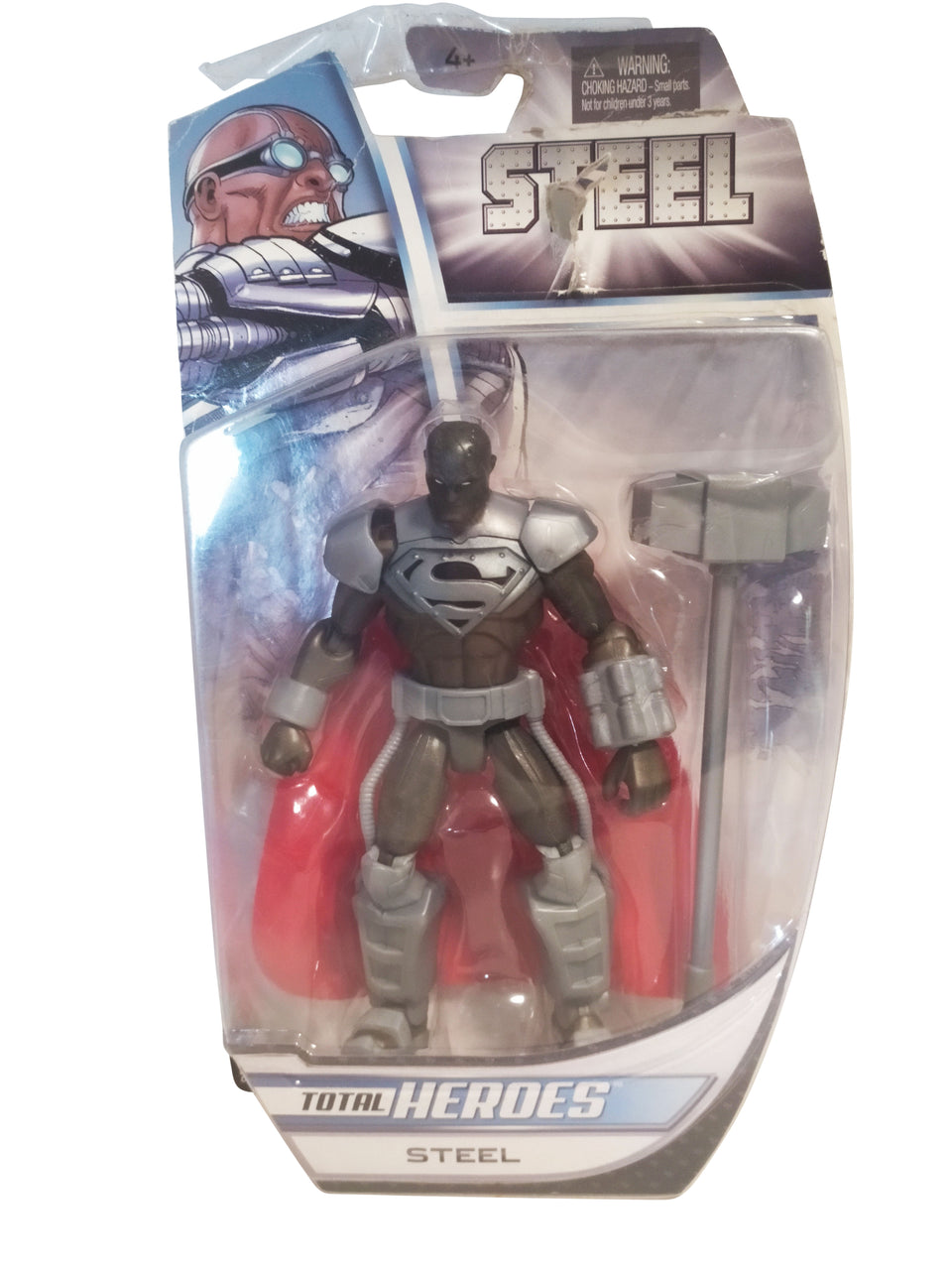 total heroes steel figure - mattel