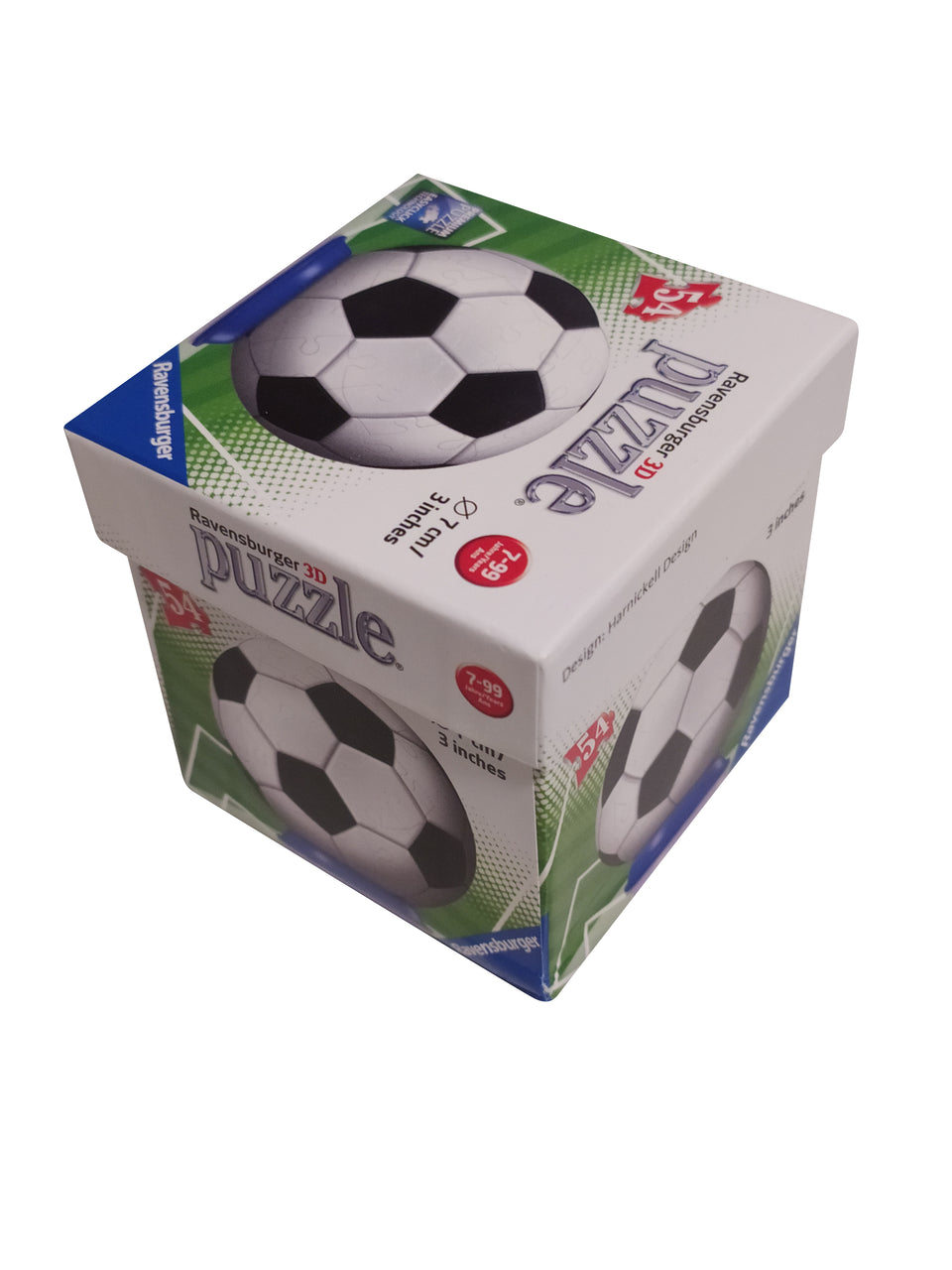 Ravensburger 3D Soccer Puzzle Football Premium Puzzle 54 Pieces