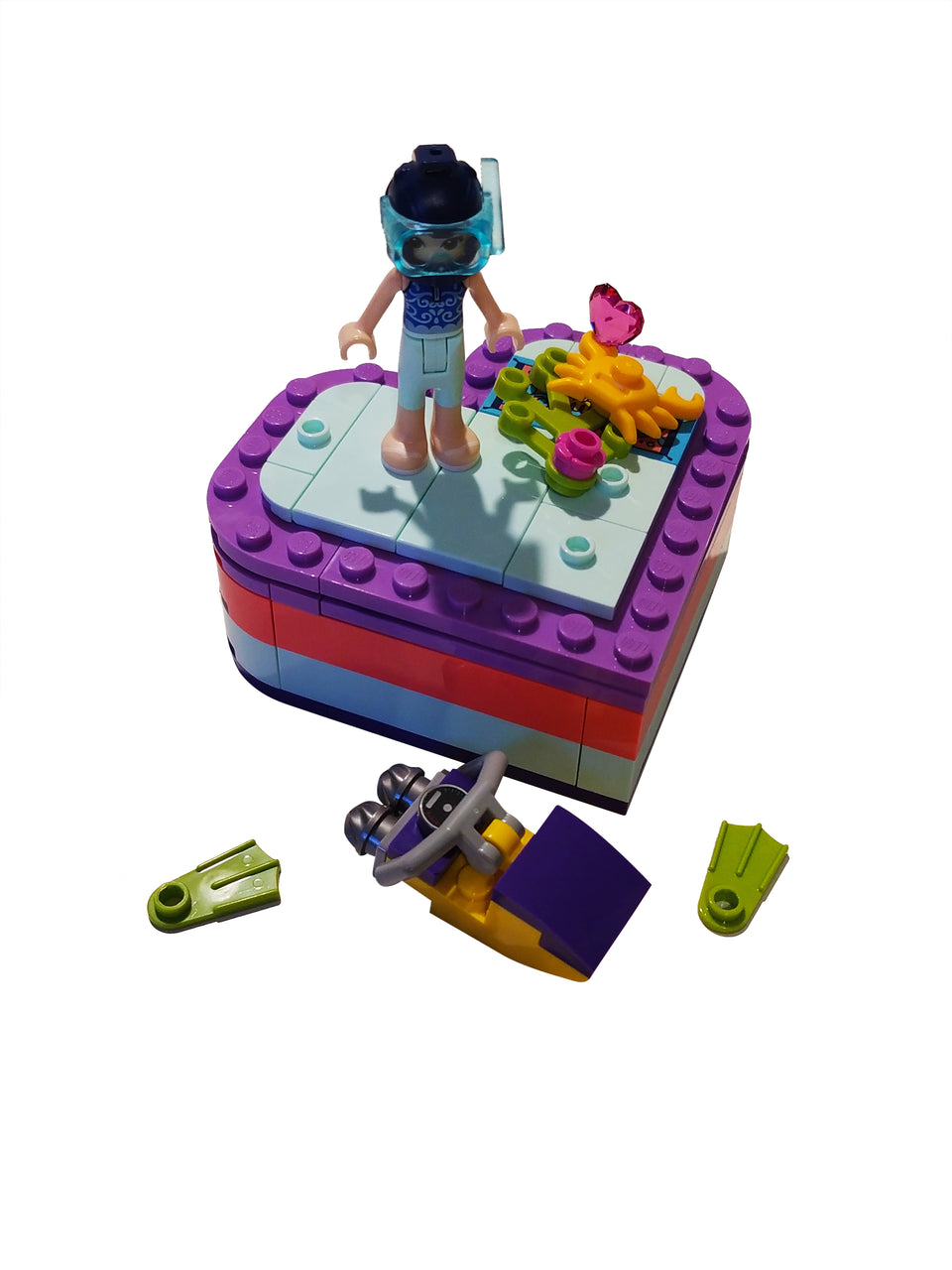 lego friends emma heart box 41385