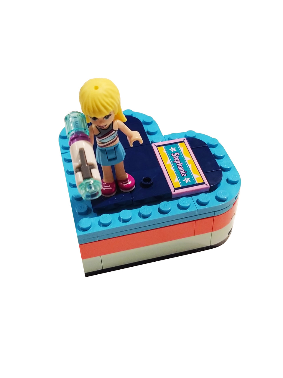 lego friends stephanie heart box 41386