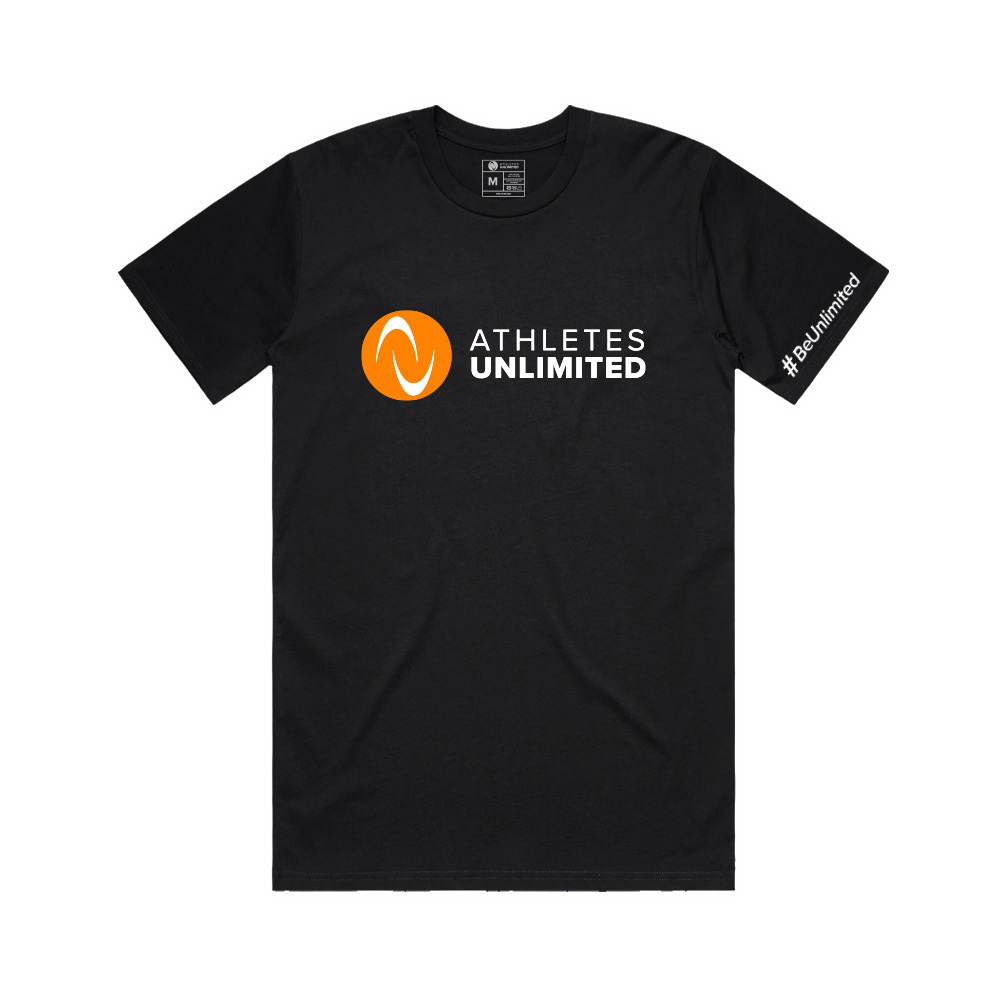 Orange Logo Mens T-shirt - Black