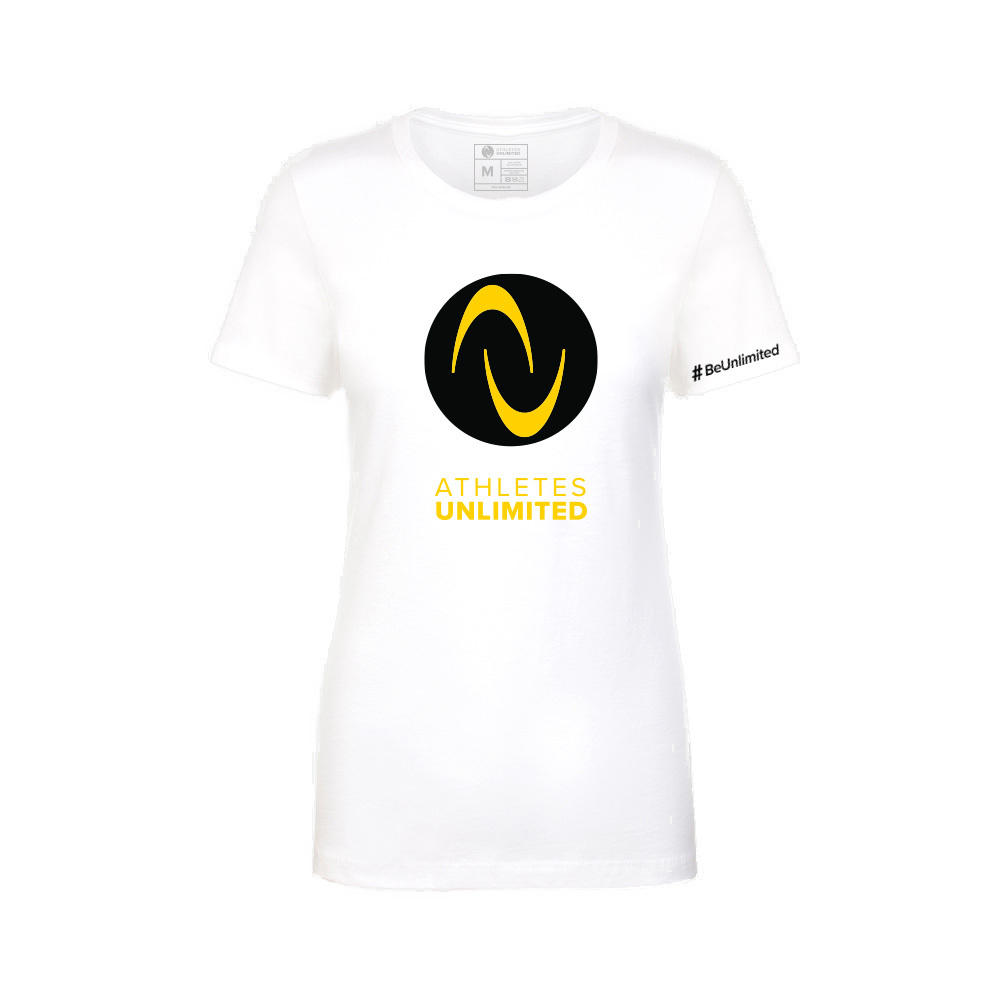 Gold Logo Womens T-shirt - White