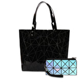 Baggies Rose Gold Tote + Blue Rainbow Wallet