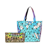 Baggies Blue Tote + Rainbow Zipper Clutch (Combo)