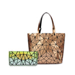 Baggies Gold Tote +Rainbow Yellow Zipper Clutch (Combo)