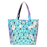 Baggies Blue Rainbow Diamond Tote Bag