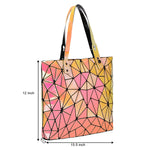 Baggies  Yellow Diamond Tote + Rainbow Wallet