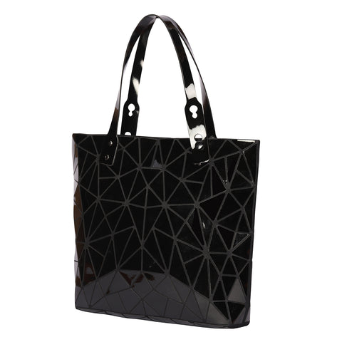 Baggies Black Geometric Diamond Tote Bag