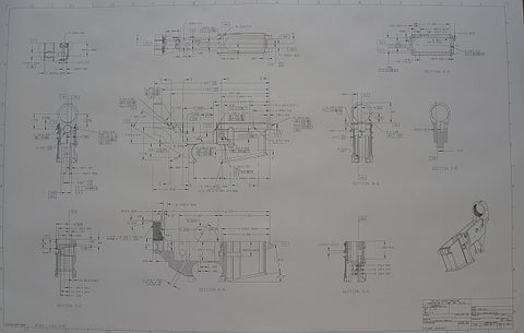 "1911 or M-16/AR-15  Blueprints, 24""x 36"""