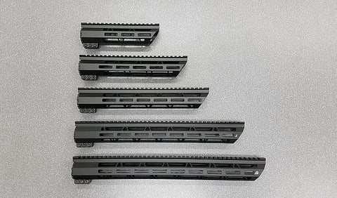 AR-15 Free Float Hand Guard, M-LOK, Various Lengths