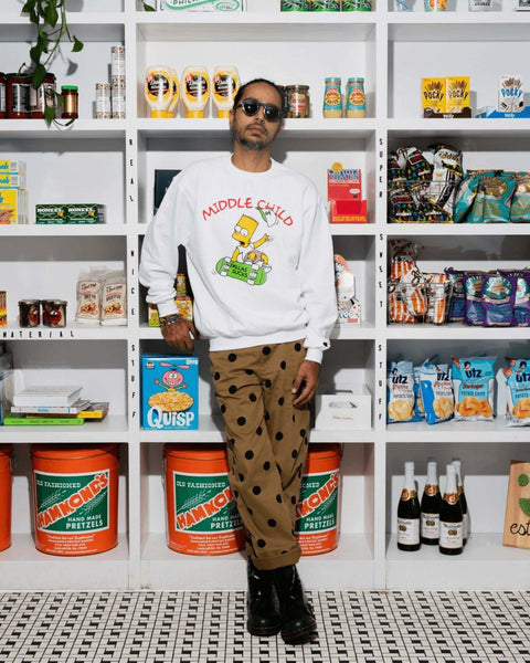 "N. Sheikh ""Eat My Shortrib"" Long-Sleeve Crewneck"