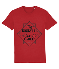Load image into Gallery viewer, My Book club only reads wine Labels Organic T-shirt