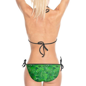 Green Large Leaves Printed Bikini - Mermaid&Wild