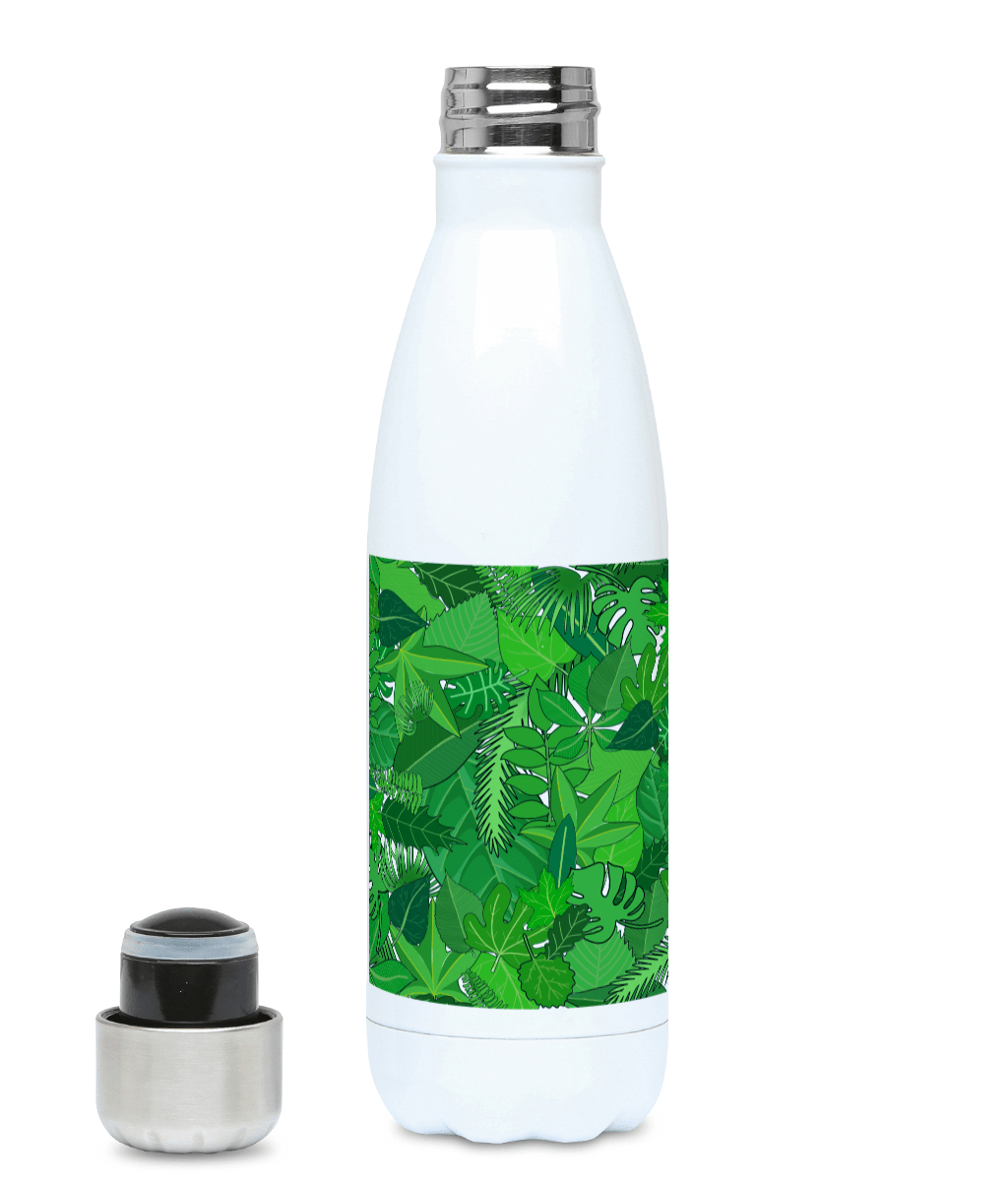 Green Leaves 500ml Water Bottle - Mermaid&Wild