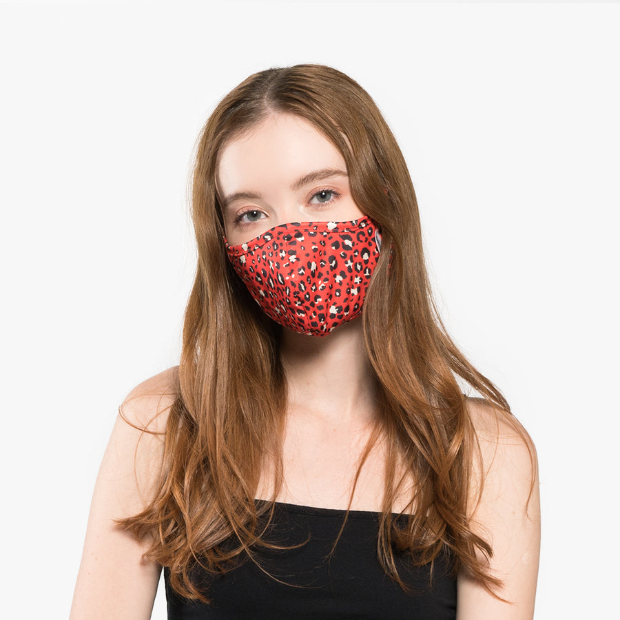 Red leopard Mask