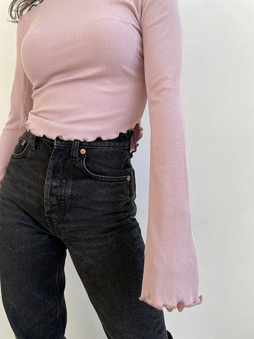 Dusty Rose Ribbed Top