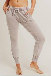 Dusty Pink Mineral Washed Joggers