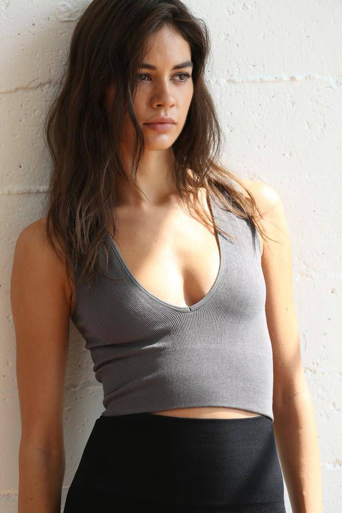 Charcoal bare essentials tank