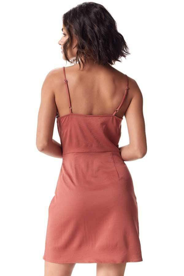 Dusty Rose Silky Slip Dress