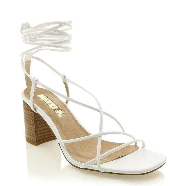 Yelena Lace Up Block Heel (billini)