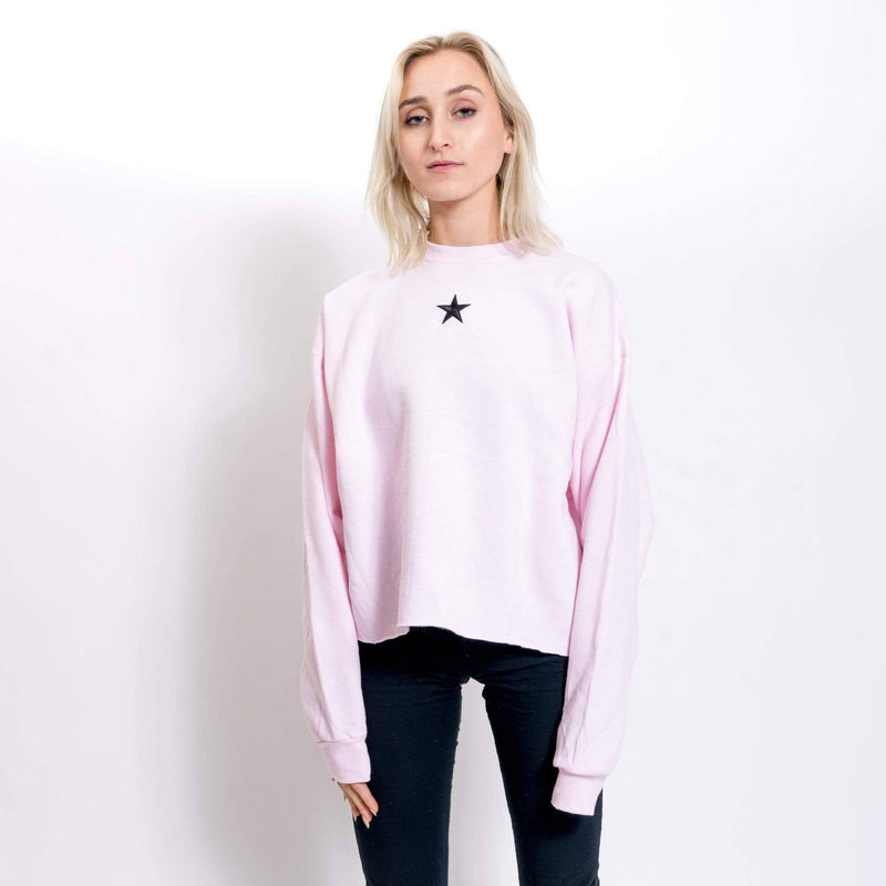 over it cropped crewneck
