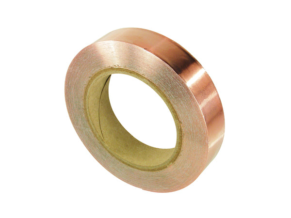 3M™ Copper Foil EMI Shielding Tape 1125, 3.5 Mil Copper Foil, Acrylic, on Liner 1/2-in x 36yds (12., 18/Case