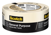 Scotch® General Purpose Masking Tape 2050-48MP, 1.88 in x 60.1 yd (48mm x 55m)