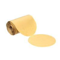 3M™ Stikit™ Gold Paper Disc Roll 216U, P120 A-weight, 6 in x NH, Die 600Z, 175 discs per roll