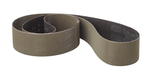 3M™ Trizact™ Cloth Belt 237AA, A80 X-weight, 1/2 in x 18 in, Film-lok, Full-flex
