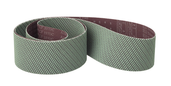 3M™ Trizact™ Cloth Belt 337DC, A45 X-weight, 4-1/2 in x 186 in, Film-lok, No Flex