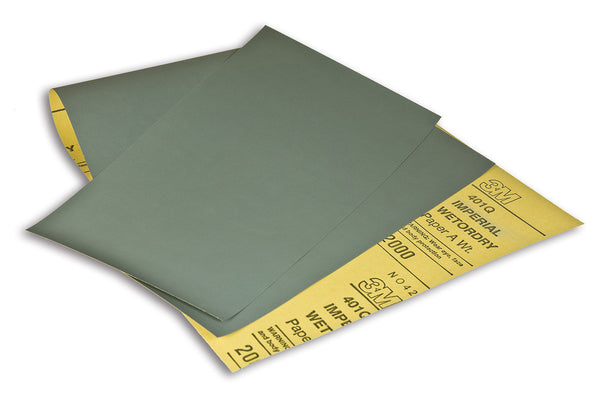 3M™ Hookit™ Wetordry™ Paper Sheet 401Q, 2000 A-weight, 4-1/2 in x 5-1/2 in