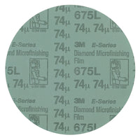 3M™ Diamond Microfinishing Film PSA Disc 675L, 74 Mic, Teal, 5 in x NH, Die 500X, 25 per inner, 500 per case