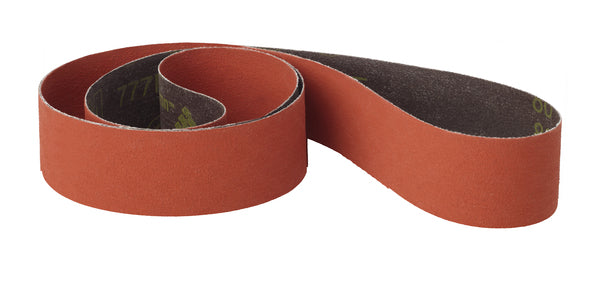 3M™ Cloth Belt 777F, P120 YF-weight, 1/2 in x 24 in, Fabri-lok, Single-flex, Scallop A