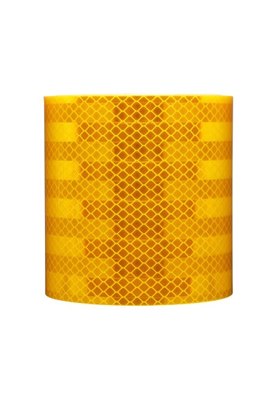 3M™ Diamond Grade™ Conspicuity Markings 983-71, Yellow, HIS2020S, 20 cm x 20 cm, 25/Package