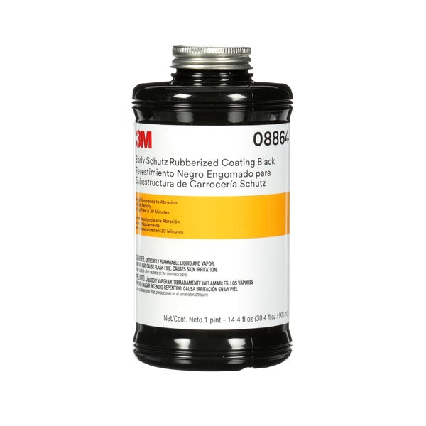 3M™ Body Schutz™ Rubberized Coating Black, 08864, 1 quart, 6 per case