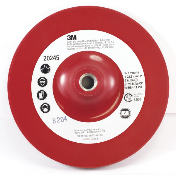 3M™ Hook and Loop Disc Pad Holder 914CP, 4 in x 5/8 in Center Post 5/8-11 Internal, 10 per case