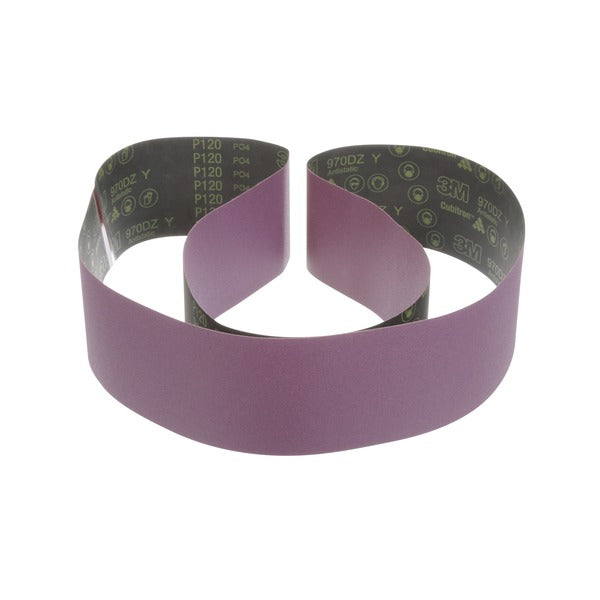 3M™ Cloth Belt 970DZ, 80 Y-weight, 6 in x 103 in, Film-lok, Single-flex