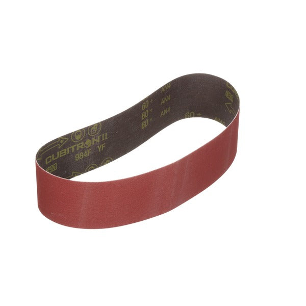 3M™ Cubitron™ II Cloth Belt 984F, 60+ YF-weight, 2 in x 110 in, Film-lok, Single-flex