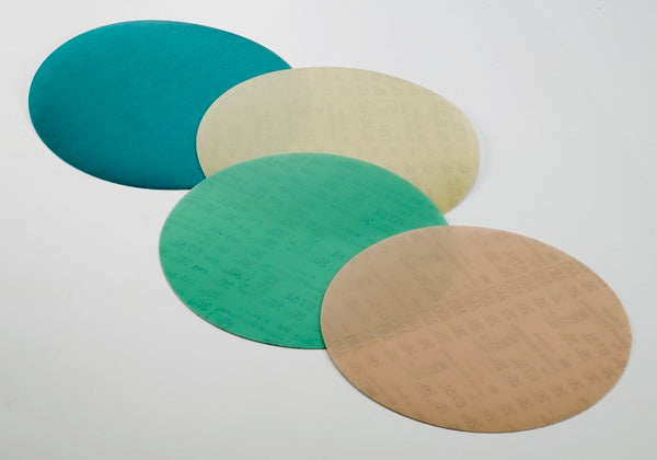 3M™ Diamond Microfinishing Film PSA Disc 675L, 30 Mic, Green, 8 in x NH, Die 800L
