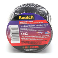 3M™ Linerless Electrical Rubber Tape 2242, 1-1/2 in x 15 ft, 1 in core, Black, 1 roll/carton, 12 rolls/case