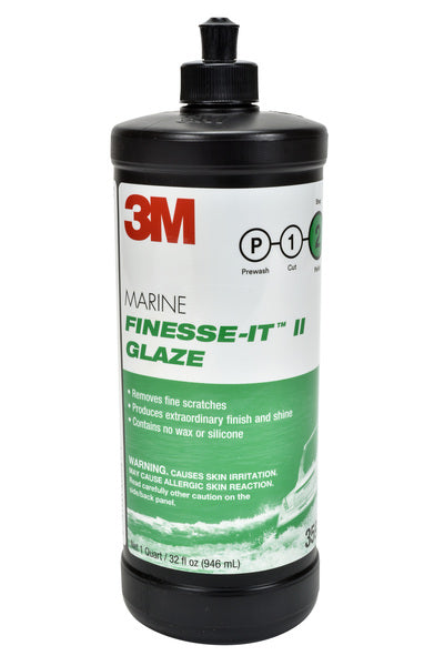 3M™ Marine Finesse-it™ II Glaze, 35928, 1 qt (32 fl oz/946 mL), 6 per case