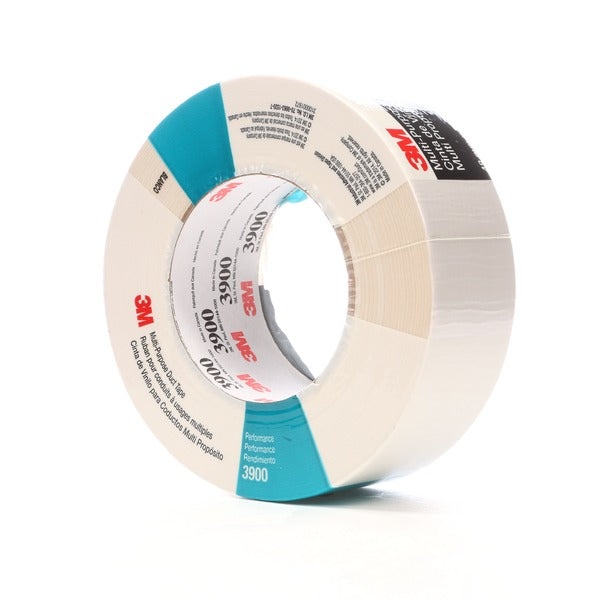 3M™ Multi-Purpose Duct Tape 3900, White, 48 mm x 54.8 m, 7.7 mil, 24 per case, Individually Wrapped Conveniently Packaged