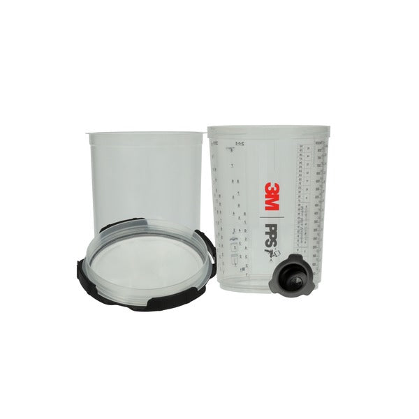 3M™ PPS™ Series 2.0 Spray Cup System Kit, 26024, Large (28 fl oz, 850 mL), 200 Micron Filter, 1 kit per case