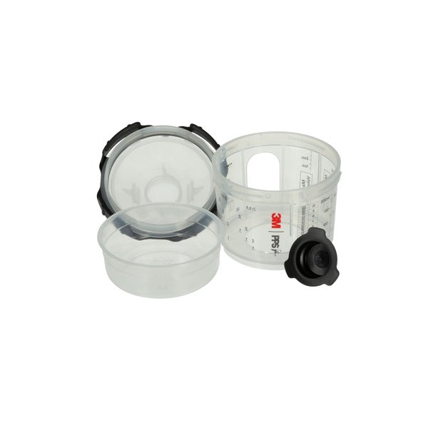 3M™ PPS™ Series 2.0 Spray Cup System Kit, 26028, Micro (3 fl oz, 90 mL), 200 Micron Filter, 1 kit per case