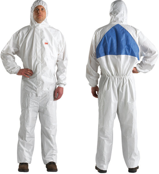 3M™ Disposable Protective Coverall 4540+-L White/Blue MIV Type 5/6, 20 EA/Case